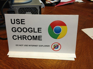 do not use ie
