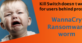 WannaCry's Kill Switch won't work for proxy users. Patch now.
